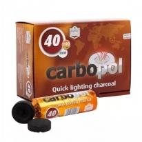 Уголь быстроразжигающийся CARBOPOL (Карбопол) 40 мм